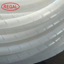 Spiral cable wrap plastic flow tube